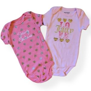 Juicy Couture set of two onesie/bodysuits